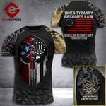 Tennessee 3% Patriot When Tyranny Becomes Law Rebellion Becomes Duty Tshirt 3d - All Over Print ARD408