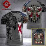 Alabama 3% Patriot One Nation Under God Tshirt 3d - All Over Print ARA608