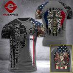 Iowa 3% Patriot One Nation Under God Tshirt 3d - All Over Print ARA608