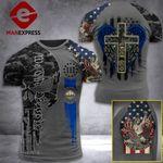 New Hampshire 3% Patriot One Nation Under God Tshirt 3d - All Over Print ARA608