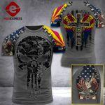 Arizona 3% Patriot One Nation Under God V2 Tshirt 3d - All Over Print ARA608