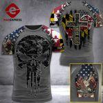 Maryland 3% Patriot One Nation Under God V2 Tshirt 3d - All Over Print ARA608