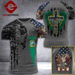Washington 3% Patriot One Nation Under God Tshirt 3d - All Over Print ARA708