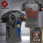 New Hampshire 3% Patriot Quarantine Restricts The Sick Tshirt 3d - All Over Print ARD708