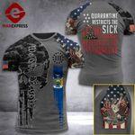 New York 3% Patriot Quarantine Restricts The Sick Tshirt 3d - All Over Print ARD708