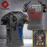 Pennsylvania 3% Patriot Quarantine Restricts The Sick Tshirt 3d - All Over Print ARD708