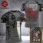 Rhode Island 3% Patriot Quarantine Restricts The Sick Tshirt 3d - All Over Print ARD708