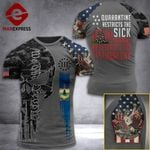 Vermont 3% Patriot Quarantine Restricts The Sick Tshirt 3d - All Over Print ARD708