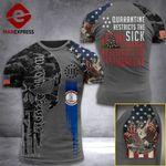 Virginia 3% Patriot Quarantine Restricts The Sick Tshirt 3d - All Over Print ARD708