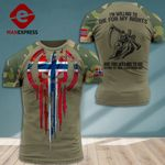 MH Norway Soldier Tshirt 3D - All Over Print DT088