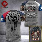 MH Texas Three Percenter Tshirt 3D - All Over Print MD088