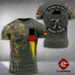 AH German Soldier Tshirt 3D - All Over Print MA108