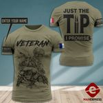 Personalized AH France Veterans Tshirt 3D - All Over Print HQ108