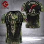 AH Norway Veterans Tshirt 3D - All Over Print DT108
