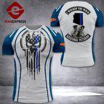 MH Arizona Veterans Blue Line Tshirt 3D - All Over Print NL108