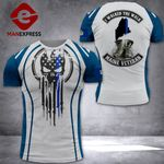 MH Maine Veterans Blue Line Tshirt 3D - All Over Print NL108