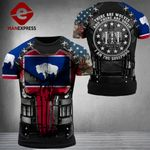Wyoming Patriot Combat Tshirt 3d - All Over Print ARD1108