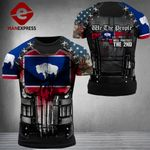 Wyoming Patriot Will Protect The 2nd Combat Tshirt 3d - All Over Print ARN1108