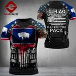 Wyoming Patriot If This Flag Ofends You Combat Tshirt 3d - All Over Print ARMQ1108