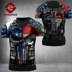 North Carolina Patriot One Nation Under God Combat Tshirt 3d V3 - All Over Print ARA1108