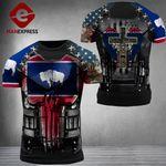 Wyoming Patriot One Nation Under God Combat Tshirt 3d V3 - All Over Print ARA1108