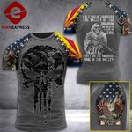 Customized Arizona 3% Patriot Walk Through The Valley Tshirt 3d - All Over Print ART1308