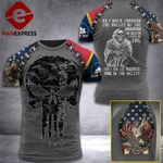 Customized Mississippi 3% Patriot Walk Through The Valley Tshirt 3d - All Over Print ART1308