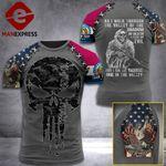 Customized Missouri 3% Patriot Walk Through The Valley Tshirt 3d - All Over Print ART1308