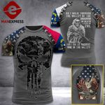 Customized North Carolina 3% Patriot Walk Through The Valley Tshirt 3d - All Over Print ART1308