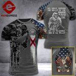 Alabama 3% Patriot Walk Through The Valley v2 Tshirt 3d - All Over Print ART1308