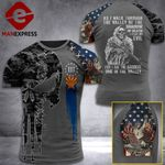 Arizona 3% Patriot Walk Through The Valley v2 Tshirt 3d - All Over Print ART1308