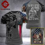 North Carolina 3% Patriot Walk Through The Valley v2 Tshirt 3d - All Over Print ART1308