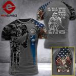 South Carolina 3% Patriot Walk Through The Valley v2 Tshirt 3d - All Over Print ART1308