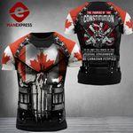 Canadian 3% Patriot Tshirt 3d - All Over Print ARQ1708