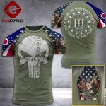 Ohio 3% Patriots Tshirt 3D - All Over Print AUG-DT21