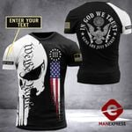 Customized US Patriot In God We Trust Tshirt 3d - All Over Print ARMQ2108
