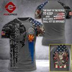 Arizona 3% Patriots Tshirt 3D - All Over Print AUG-MA25