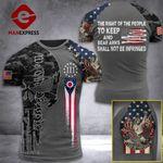 Ohio 3% Patriots Tshirt 3D - All Over Print AUG-MA25