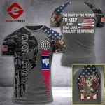 Wyoming 3% Patriots Tshirt 3D - All Over Print AUG-MA25