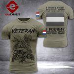 Netherland Veteran Patriot Tshirt 3d - All Over Print DH2608NTL