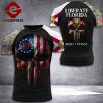 Florida Liberate Patriot Tshirt 3d - All Over Print DH2608PDT