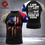 Texas 3% Patriot Tshirt 3d - All Over Print DH2708HVQ
