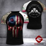 California 3% Patriot Tshirt 3d - All Over Print DH2708PDT