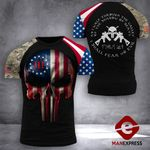 US 3% Patriot Tshirt 3d - All Over Print DH2708PDT