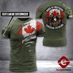 AH Customized Canadian Veterans Tshirt 3D - All Over Print AUG-DT31