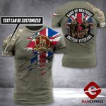 AH Customized British Veterans Tshirt 3D - All Over Print AUG-DT31