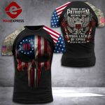 US 3% Patriot Tshirt 3d - All Over Print DH3108PDT