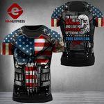US 3% Patriot Tshirt 3d - All Over Print DH3108TMA