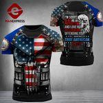 Virginia 3% Patriot Tshirt 3d - All Over Print DH3108TMA