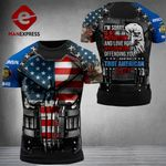 Wisconsin 3% Patriot Tshirt 3d - All Over Print DH3108TMA